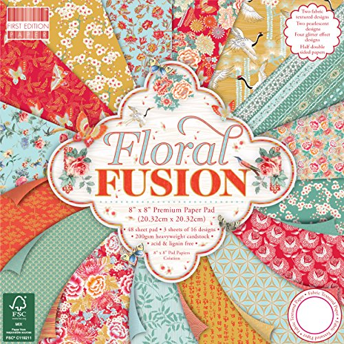 First Edition Floral Fusion Premium Paper Pad 8