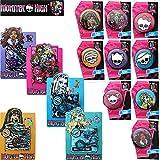 12 Stück Set Monster High Armband Pins Badges Party Geburtstag Kindergeburtstag Mitgebsel Mitbringsel