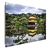 Feeby Frames, Wandbild, Deco Bild, gedrucktes Bild, Deco Panel, Bild, 60x90 cm, LANDSCHAFT, CHINA, WALD, BERGE, WINK, CHINESISCHE COTTAGE, NATUR