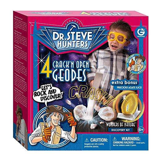 Geoworld Dr. Steve Hunters Wonders of Nature 4 Crack'n open Geodes Plus Agate Cut Slice Kit