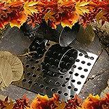 Medipaq - Filtro para desagües (2 unidades, acero inoxidable, 15 cm², incluye guantes de jardinería)