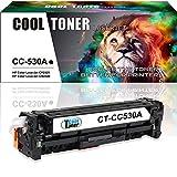 Cool Toner Kompatibel Toner fuer CC530A 304A Tonerkartusche Replacement fuer HP Color LaserJet CP2025 CP2025N CP2025DN; HP Color LaserJet CM2320 CM2320N MFP CM2320NF MFP CM2320FXI MFP(Schwarz, 1 Pack, 3500 Seiten)