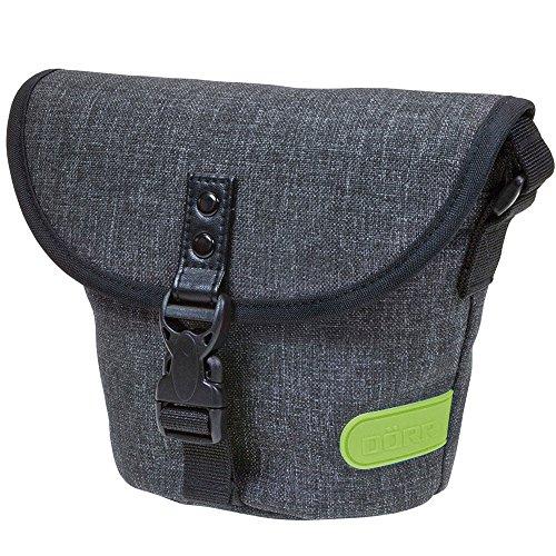 Dörr 463370 City Basic klein Fototasche für 1 Kompaktkamera/kleine Systemkamera grau/limette