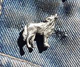 Lobo peltre Pin de solapa broche libre Reino Unido POST peltre Pin Animal regalo