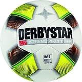 Derbystar Fußball X-Treme Pro TT, Trainingsball, Ball Größe 5 (420-440 g), weiß Gelb Orange, 1113
