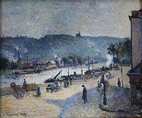 Das Museum Outlet-Quays bei Rouen, 1883-Poster (61x 81,3cm)