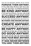#5: Inephos Mother Teresa Do It Anyway Quote Poster Art | Inspirational Posters For Room (12 x 18 inch)