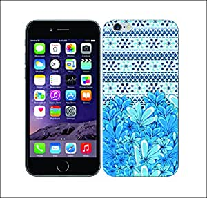 Purple Dew Drops 1988 Floral Blue Cyan Hard Cover for Apple iphone 6s