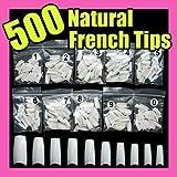 500 White False French Nail Art Tips Uv Acrylic 064 by Etop