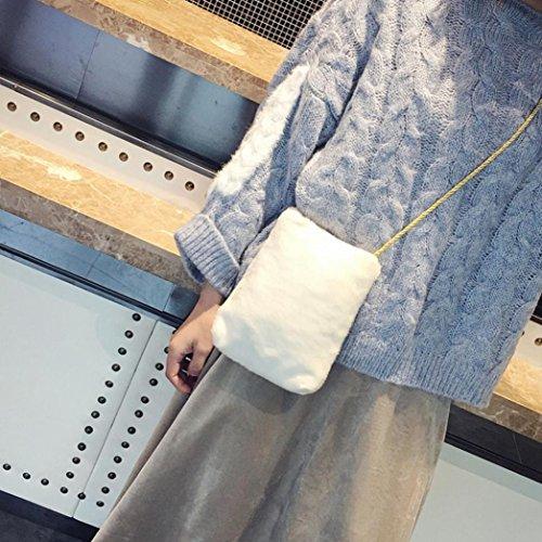 da Bianco a Longra donna Borsa materiale piccola plastificato tracolla tracolla in a singola U7vvnpqZI
