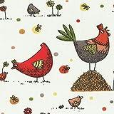 """Baumwollstoff - """"gack, gack…"""" - Die Henne und die"""