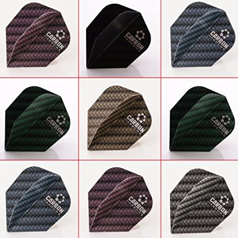 5 x Mixed Sets of Harrows Carbon Dart Flights Standard Shape by PerfectDarts