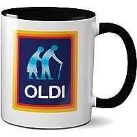 Oldi Mug- Birthdays Christmas Funny Gift Presents Celebration Novelty Old Large Heavy Duty Handle Dino Coated Dishwasher…