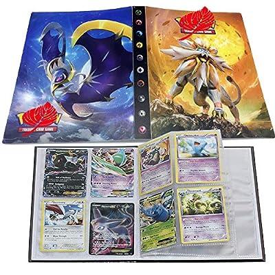 ESOOR Pokemon Comercio Tarjeta Álbum, Pikachu Collection Handbook, Pokemon Cards Album Book La Mejor protección para Pokemon Trading Cards GX EX (Solgaleo) de ESOOR