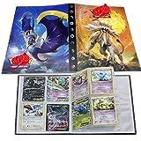 UHIPPO Pokémon Carte Album, Pokémon Cartes Titulaire, Pokémon classeur pour Cartes Album Livre Protection pour Pokémon Commerce Cartes GX EX boîte(Sun&Moon)