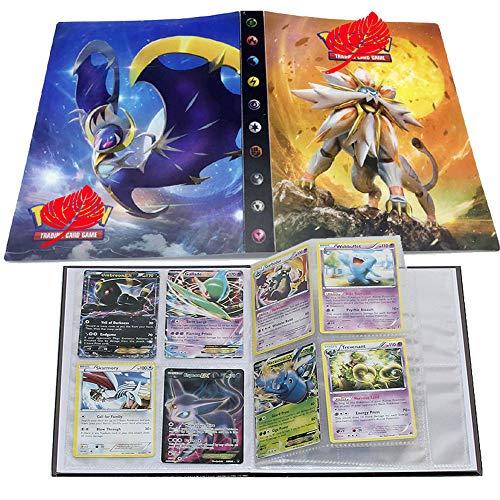 UHIPPO Pokemon Karten Album, Pokemon Karten Halter, Pokemon Ordner für Karten Album Buch Bester Schutz für Pokemon Sammel Karten GX EX Box(Solgaleo)
