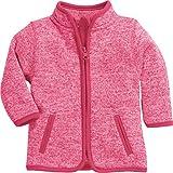 Schnizler Unisex Baby Jacke Strickfleece Kontrastnähten, Oeko-Tex Standard 100, Rosa (Pink 18), 56