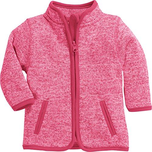 Schnizler Unisex Baby-Jacke aus Fleece, atmungsaktives und hochwertiges Jäckchen mit Reißverschluss, Rosa (Pink 18), 68 -