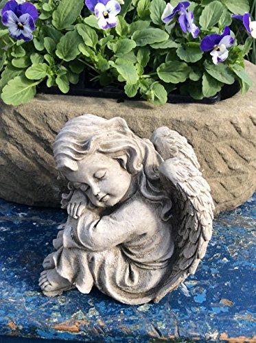 Garten Ornament ruhender Engel Engel Paar Cherubs Ornaments Statue