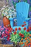 Toland Home Garden Adirondack-Arrangement Flagge, Textil, Mehrfarbig, Garden-S-12.5x18
