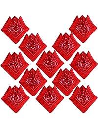 326dae771803 12PCS Bandanas Fichu Mouchoir Unisexe,Bandeau de Cheveux,Echarpe de  Cou,Décoration en