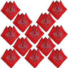 519288651874f4 QUMAO (100% Baumwolle 12 Stk Paisley Bandana Halstuch 55 x 55 cm Kopftuch  Armtuch