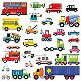 DECOWALL DW-1605 27 Transporten Kinderen muurstickers Schil en plak Afneembaar baby Kinderkamer babykamer Kinderkamer Slaapkamer Huiskamer