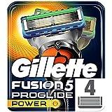 Gillette Fusion5 ProGlide Power Razor Blades, 4 Refills