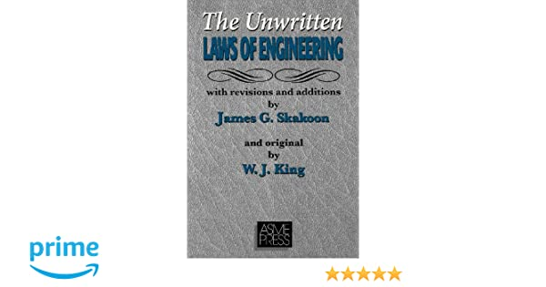 UNWRITTEN LAWS OF ENGINEERING PDF DOWNLOAD