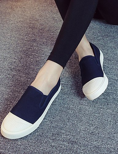 ZQ gyht Damenschuhe - Ballerinas / Halbschuhe / Slippers - Outddor / L?ssig - Leinwand - Flacher Absatz - Komfort / Stile - Schwarz / Blau / Grau dark blue-us5.5 / eu36 / uk3.5 / cn35