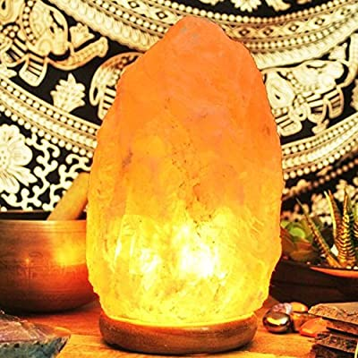 Natural Pink Himalayan Crystal Rock Salt LAMP 100% Authentic, Premium and FINE Quality by SOURCEDIY with BS Standard Electric Plug.