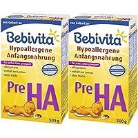 Bebivita Pre HA, Hypoallergene Anfangsmilch - von Geburt an, 2er Pack (2 x 500g)