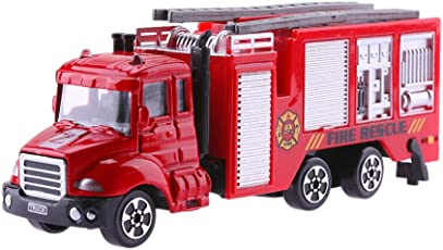 Chinatera Toy Simulation Mini Ladder Fire Engine Truck Model Freesize 2#