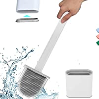 Cloudsell Silicon Toilet Brush with Holder Brush Stand for Bathroom, Silicon Flex Toilet Cleaning Brush - Multicolor…