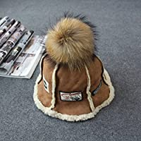 ZHGI Racoon capelli Ball secchio scamosciata Hat fisherman Hat,kaki