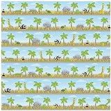 Karen Foster Design Scrapbooking Paper, 25 Sheets, Safari Stripe, 12 x 12