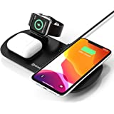 NEWDERY 3 in 1 Caricatore Wireless, Qi Ricarica Rapida Wireless, Fast Charger per iPhone SE/11/11 PRO Max/XS/XR/X/8 Plus…