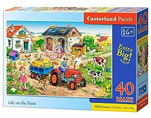 CASTORLAND Life on The Farm 40 Maxi pcs - Rompecabezas (Rompecabezas para Suelo, Dibujos, Preescolar, Niño/niña, 4 año(s), Interior)