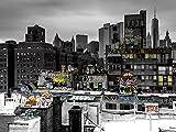 Artland Qualitätsbilder I Poster Kunstdruck Bilder 80 x 60 cm Städte Amerika Newyork Foto Schwarz Weiß B9FP Graffiti in New York