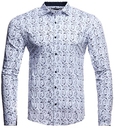the best attitude 55964 6376b Amazon LEIF NELSON Herren weißes Hemd Slim Fit Langarm | Schwarzes Männer  Stretch Kurzarmhemd Freizeithemd | Jungen Langarmshirt Langarmhemd Business  ...