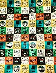 "Disok Lote De 20 Papeles De Regalo""Hipster"", Multicolor (7080"