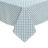 Deconovo Tischdecke Tischwäsche Tischtücher Wasserabweisend 130x280 cm Marokko Türkis
