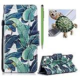Für Sony Xperia XZ1 Schlag Mappen Leder Kasten,für Sony Xperia XZ1 Netter Muster Entwurfs Hülle,SKYXD Bananenbaum Gemalter PU Leder Schlag falten mit Kartenhalter Magnetisch Schließung schützendem Hülle Für Sony Xperia XZ1