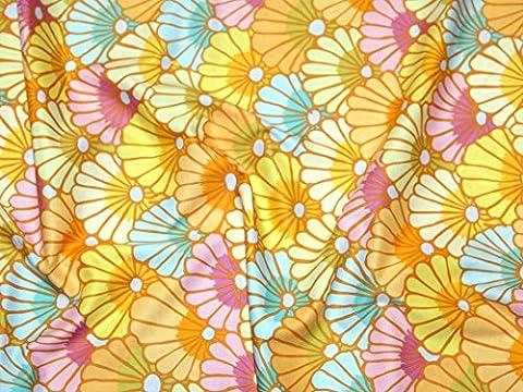 Rowan Kaffe Fassett Spring 2015Tausend Blumen Popeline Quilting Stoff gelb–Meterware + Frei Minerva Crafts Craft Guide
