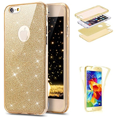 Coque iPhone 6, iPhone 6S Coque en Silicone, SainCat Ultra Slim Transparent Silicone Case Cover pour iPhone 6/6S, Crystal Clair Soft TPU Silicone Anti-Scratch Soft Transparent Gel Cover Coque Caoutcho Or