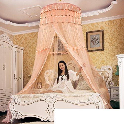 Bed canopies & drapes zanzariere da soffitto in stile europeo, di lusso, alla moda, da appendere, ad alta densità, zanzariera da soffitto, a forma di cupola singola, doppia 100x200cm(39x79inch) d