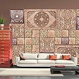 murando - Fotomural 250x175 cm - Papel tejido-no tejido - Papel pintado - Ornamento - azulejo piedra alivio f-a-0094-a-c