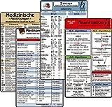 Stations Karten-Set - Laborwerte, Med. Abkürzungen, Medikamente - Haltbarkeit nach Anbruch, Reanimation