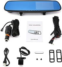 "Auto-DVR Spiegel Dual-Kamera 4.3"" Dual Lens Dash Cam Recorder Full HD 720P Rearviewkameras Parkplatz Rückansicht Video-Camcorder"