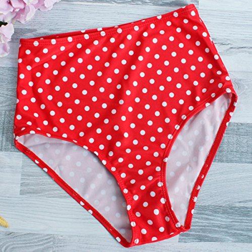 TAOZHN Badebekleidung Bikini Weiblich Wassersport Rot Sommer ärmellos Edler Bikini Spa Stitching Badeanzug S M L Red